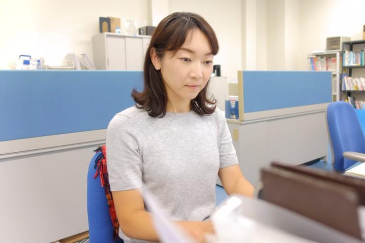 (岩城さんの仕事の様子)