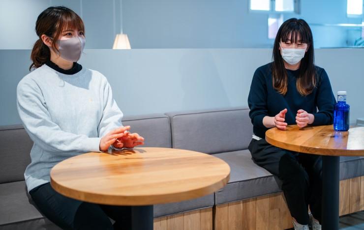 (お話を伺った中村さん(左)と松浦さん(右))